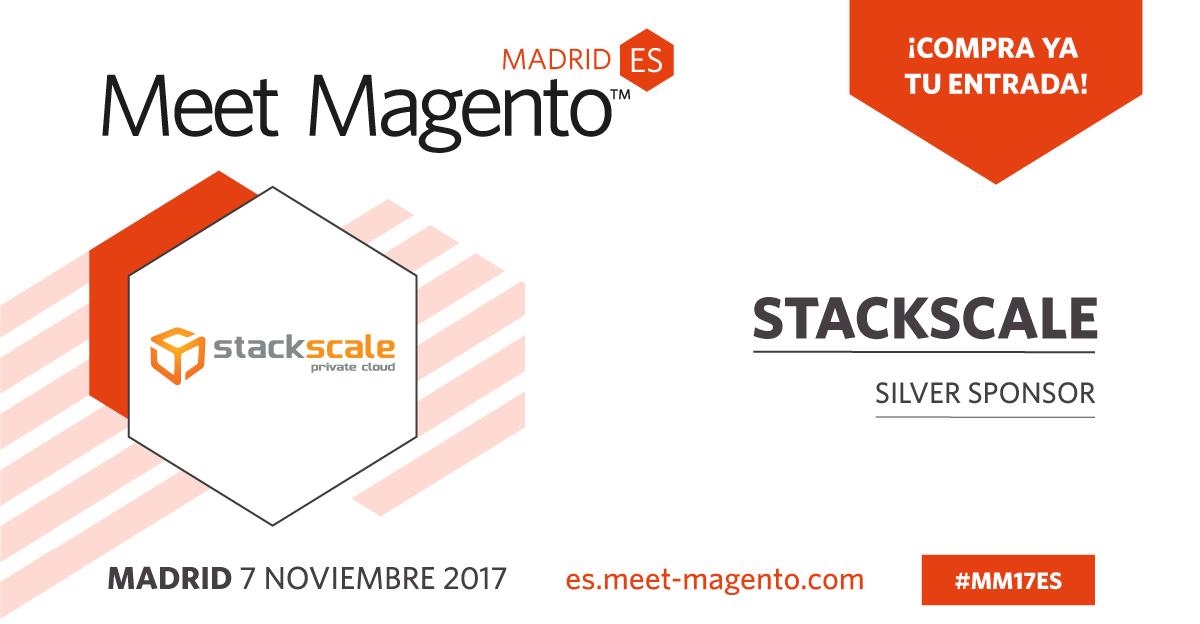 Stackscale patrocinador de Meet Magento Spain 2017